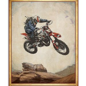 Poster Motocross everything will kill you so choose something fun