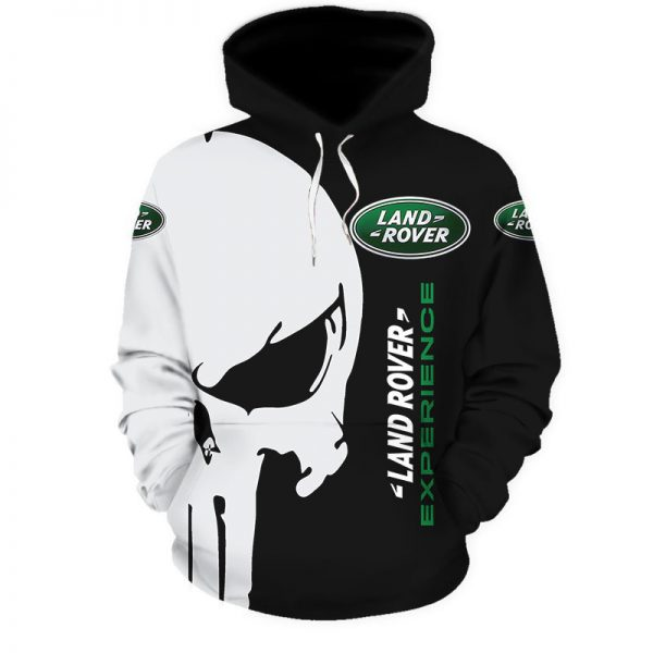 Punisher skull Land rover experience 3d hoodie