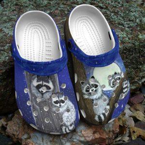 Raccoon crocs shoes crocband
