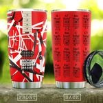 Red Guitar Chord Stainless Steel Tumbler