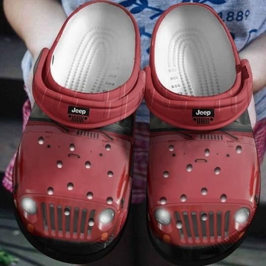Red Jeep CROCS Crocband