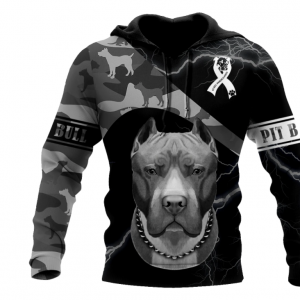 Save A Pit Bull Euthanize A Dog Fighter 3D All Over Print Hoodie