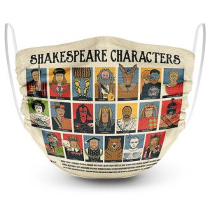 Shakespeare characters face mask
