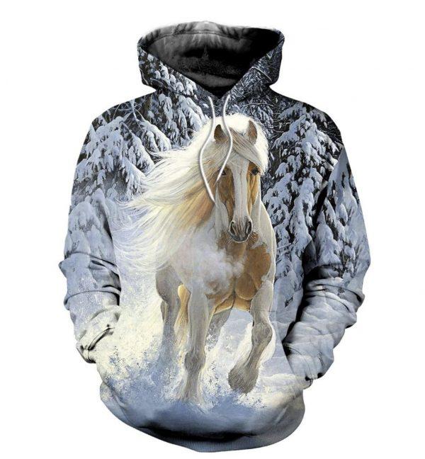 Snow Runner Horse 3D HOODIE