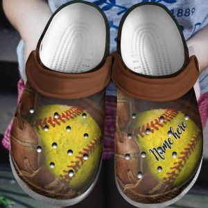Softball custom name crocs shoes