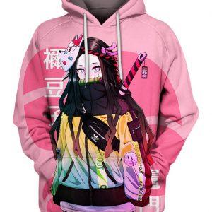Street Style Nezuko Kamado 3D Hoodie