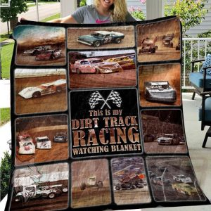 This is my Dirt Track Racing watching blanket