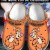 Tigger custom name croc shoes crocband clog