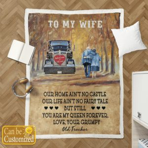To my wife our home ain't no castle custom personalized name blanket