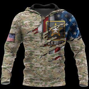 US Army Veteran 3D HOODIE