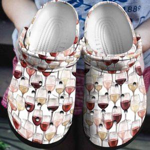 Wine crocs shoes crocband