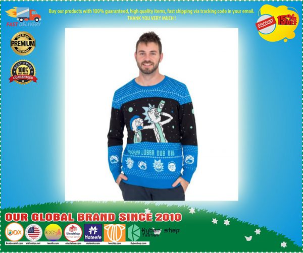 Wubba Lubba Dub Dub Rick and Morty Ugly Christmas Sweater