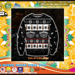 D KNITTING PATTERN JACK DANIELS WHISKEY UGLY CHRISTMAS SWEATER