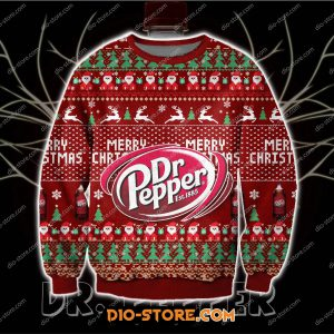 3D print knitting pattern DR pepper print ugly christmas sweater