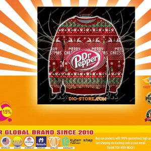 D print knitting pattern DR pepper print ugly christmas sweater