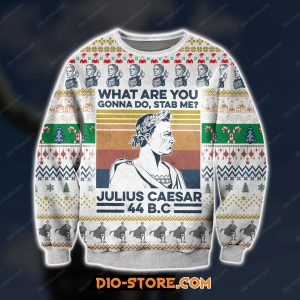 3D print knitting pattern julius caesar ugly christmas sweater
