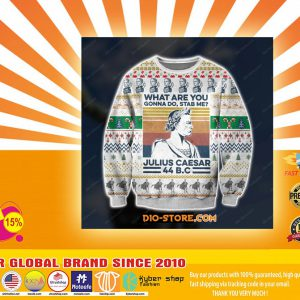 D print knitting pattern julius caesar ugly christmas sweater
