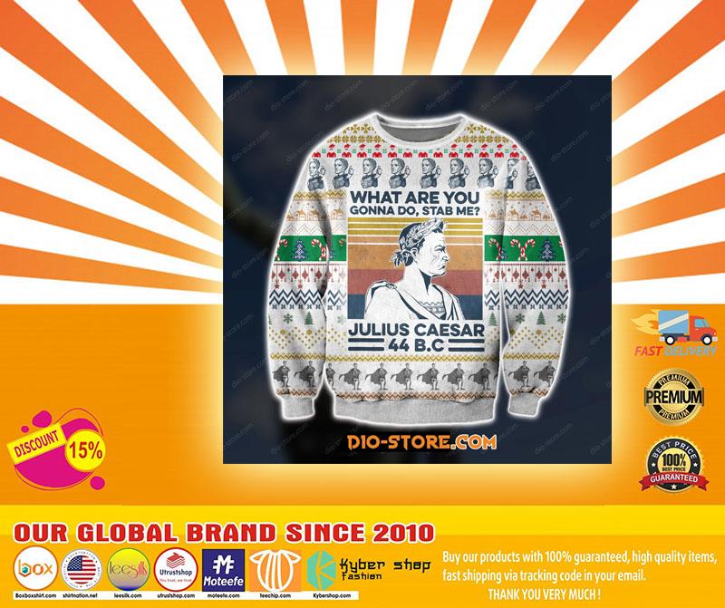 D print knitting pattern julius caesar ugly christmas sweater