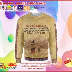 5045 Miles of trails over land and water trail of tears 3d hoodie