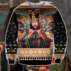 Big trouble In little china knitting pattern 3D print ugly sweater