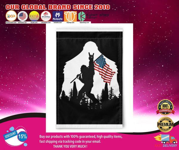 Bigfoot Ammerican flag