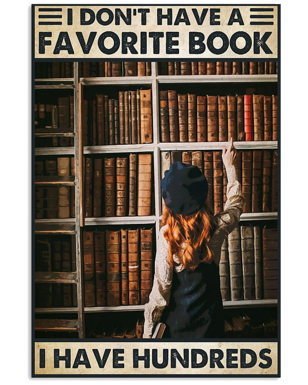 Book I dont have a favorite book poster