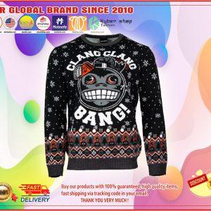 Clang Clang call of duty monkey bomb bang ugly chrismas sweater