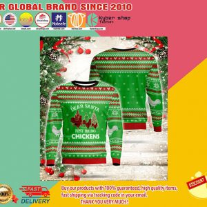 Dear santa just bring chickens sweatshirt3