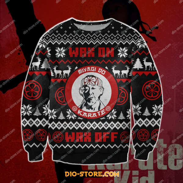 The karate kid knitting pattern 3D print ugly sweater