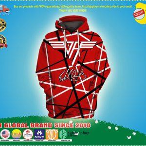Van halen 3d over print hoodie