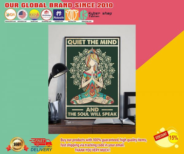 Yoga girl quiet the mind and the soul will speak poster2