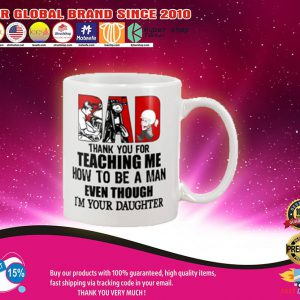 Biker dad thank for teach me how to be a man even I'm your daughter mug2