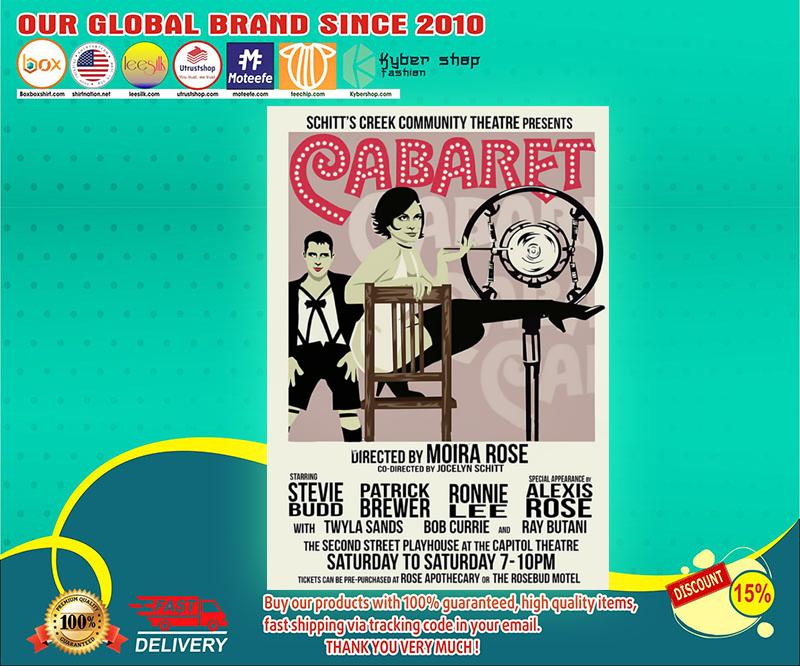 Schitts creek Cabaret community theatre presents poster