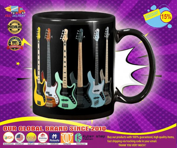 Bass guitar set mug