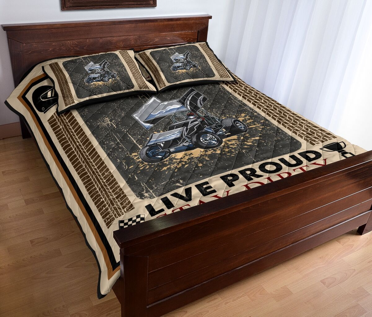 Car racing Live fast live loud live proud stay dirty bedding set2