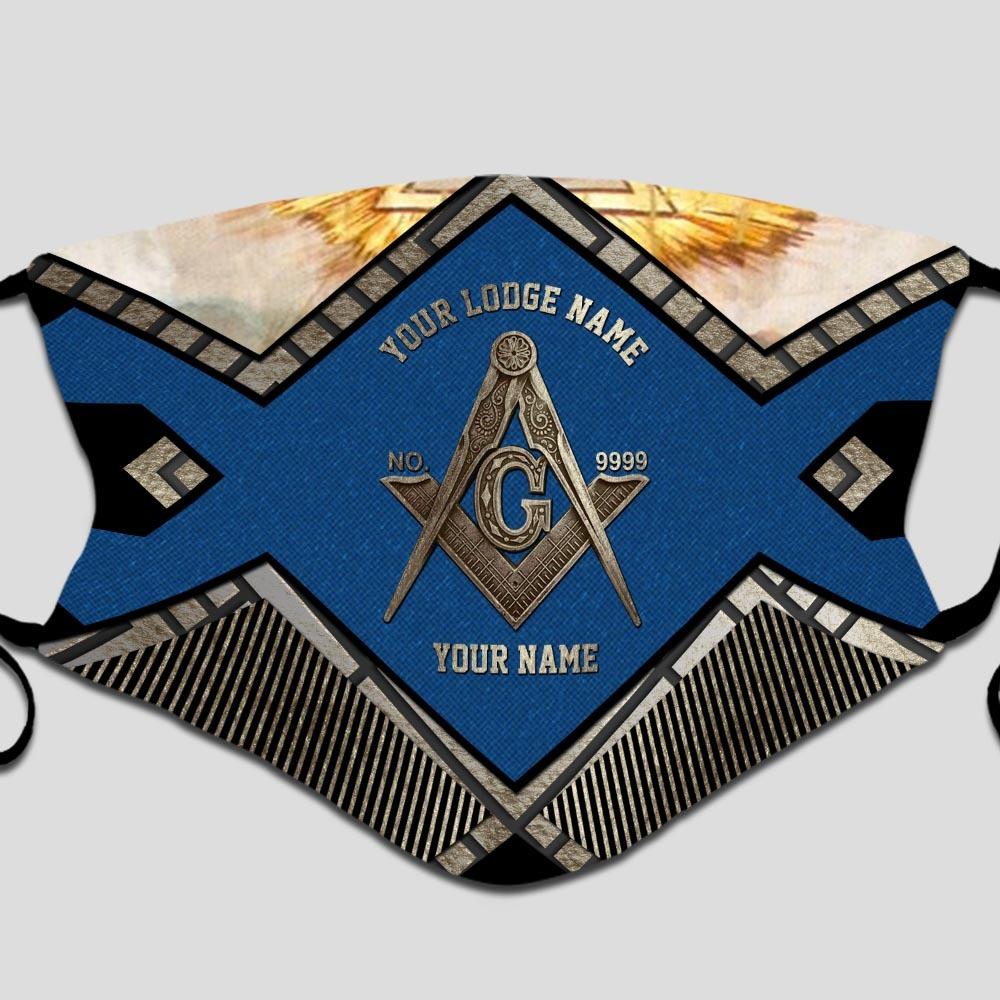 Freemasonry Your lodge name custom name face mask2