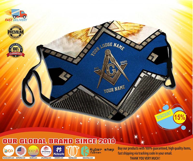 Freemasonry Your lodge name custom name face mask4