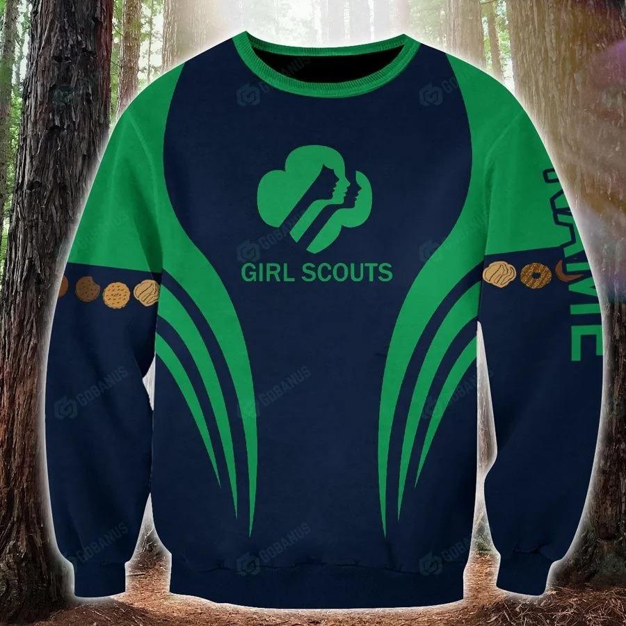 Girl scounts custom name 3D hoodie sw