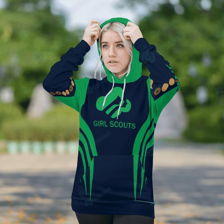 Girl scounts custom name 3D hoodie1