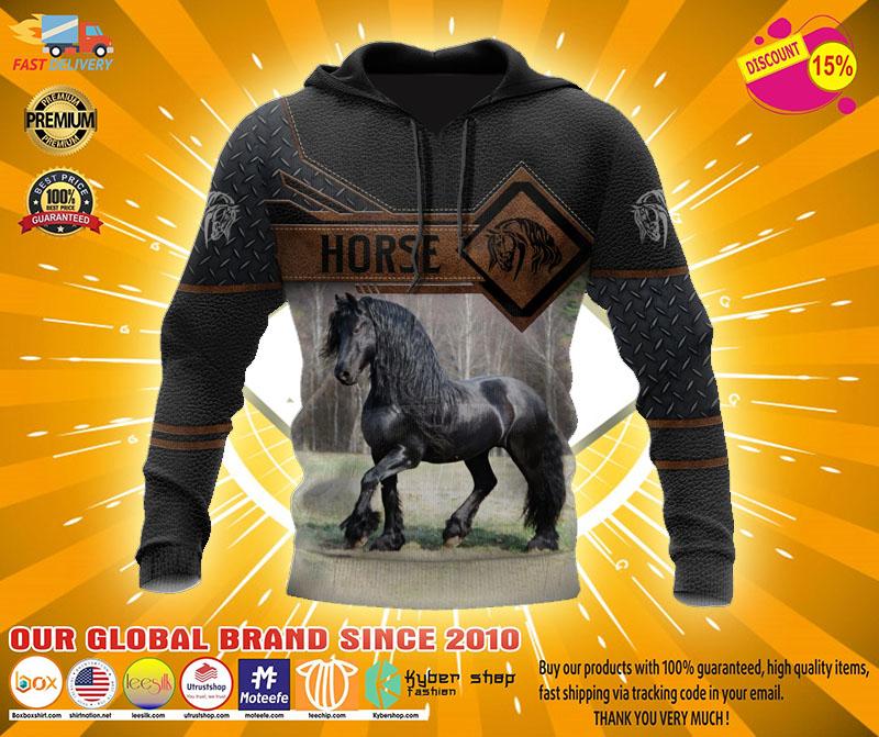 Horse 3D hoodie2