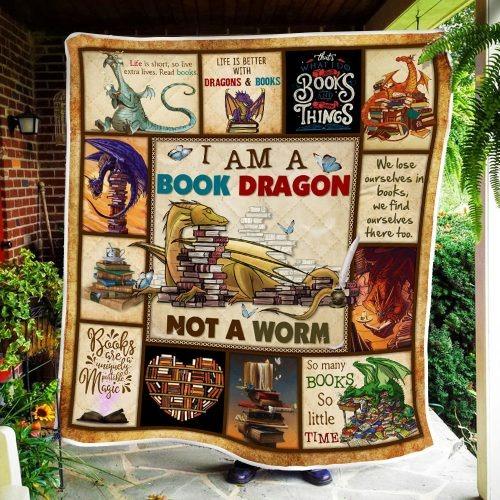 I am a book dragon not a worm quilt2