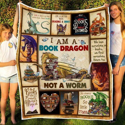 I am a book dragon not a worm quilt3
