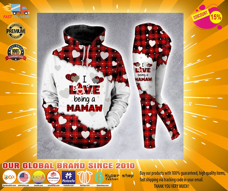 I love being a mamaw custom name 3D hoodie and legging4