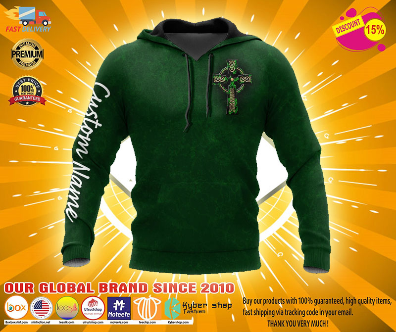 Irish St.Patrick day custom name 3D hoodie1