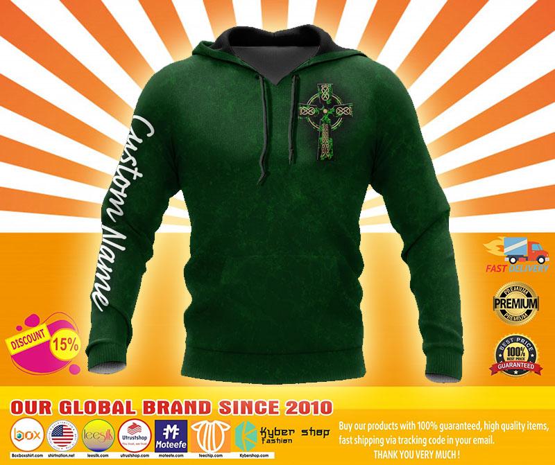 Irish St.Patrick day custom name 3D hoodie3