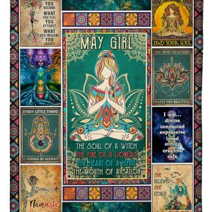 May girl yoga the soul of the witch the fire of lioness blanket