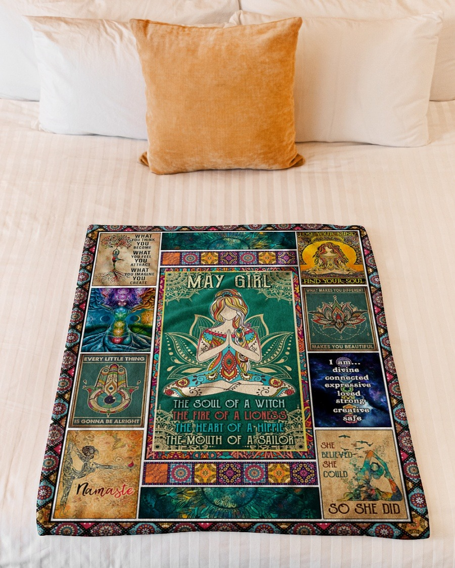May girl yoga the soul of the witch the fire of lioness blanket4