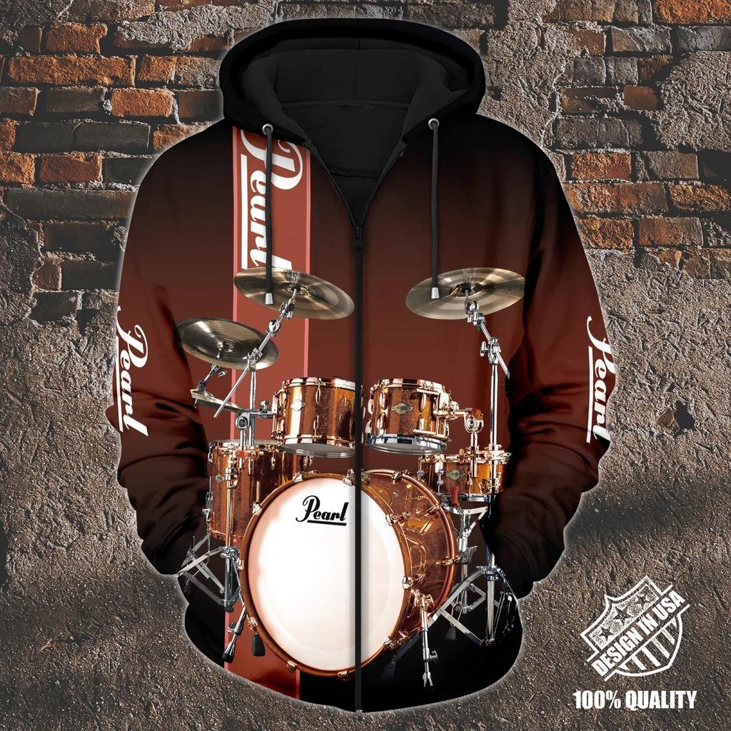 Pearl Drummer zip hoodie2
