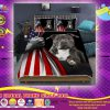 Pitbull American Flag Bedding set