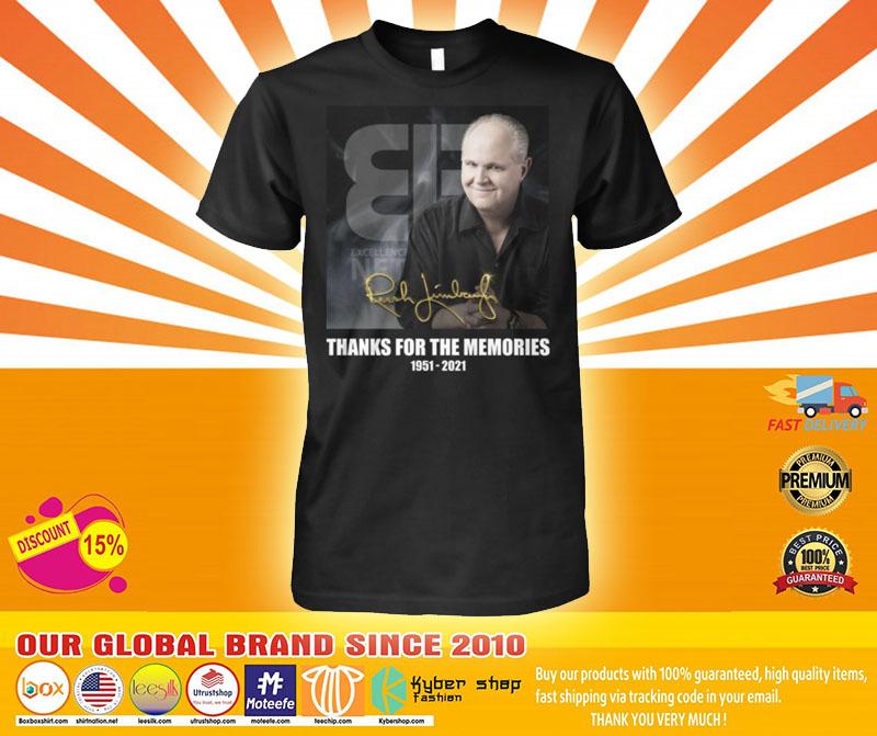 Rush Limbaugh thanks for the memories 1951 2021 shirt4